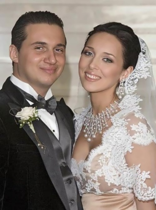 with her husband Yan Abramov