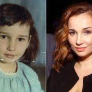 Cute Anfisa Chekhova in her childhood