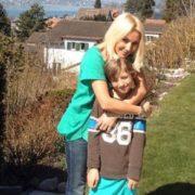 Cute Lera Kudryavtseva and her son