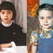 Cute Nastya Zavorotnyuk in her childhood
