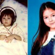 Cute Nyusha in her childhood