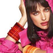 Fashionable model Shayk Irina