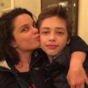 Natalia Koroleva and her son