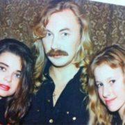 Young Natasha Koroleva in the company of Igor Nikolaev and Ksenia Sobchak