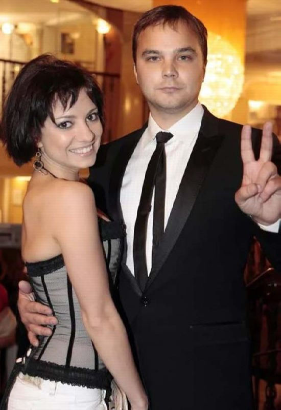 Actor Andrey Chadov and Svetlana Svetikova