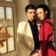 Actor Stanislav Bondarenko and Irina Antonenko