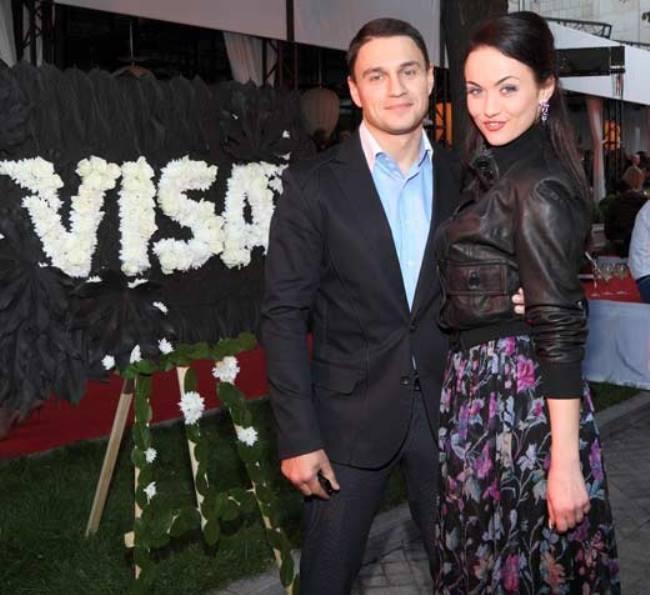 Berseneva with her ex-husband Nikolai