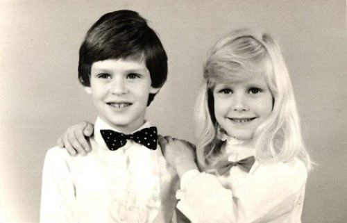 Cute Dementieva and her brother