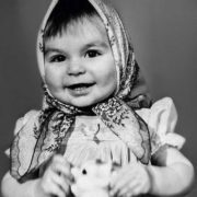 Cute Ekaterina Varnava in her childhood