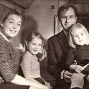 Cute Maria Shukshina in her childhood with her parents and sister