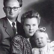 Cute Natalia Belohvostikova and her parents