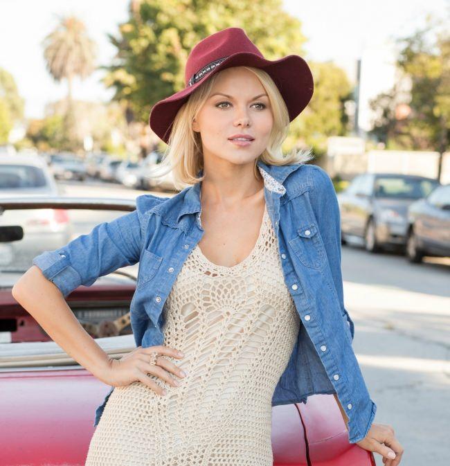 Cute actress and model Anna Monzikova