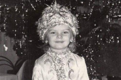 Elena Kuletskaya in her childhood