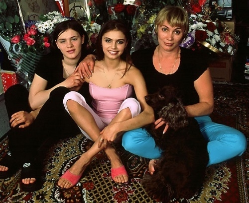 Kabaeva, her mother and sister