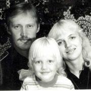 Little Masha Malinovskaya and her parents