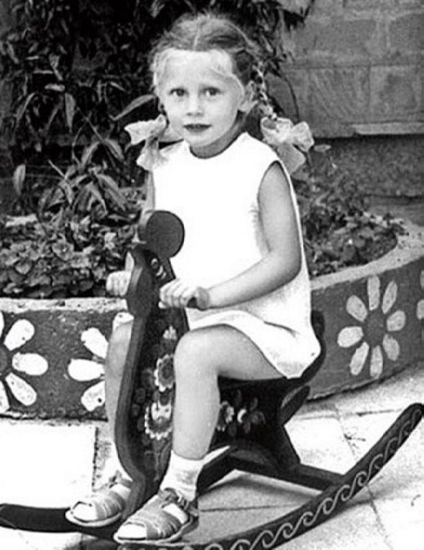 Natalia Rudova in her childhood