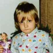 Polina Maksimova in her childhood