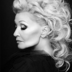 Glamorous actress in her sixties