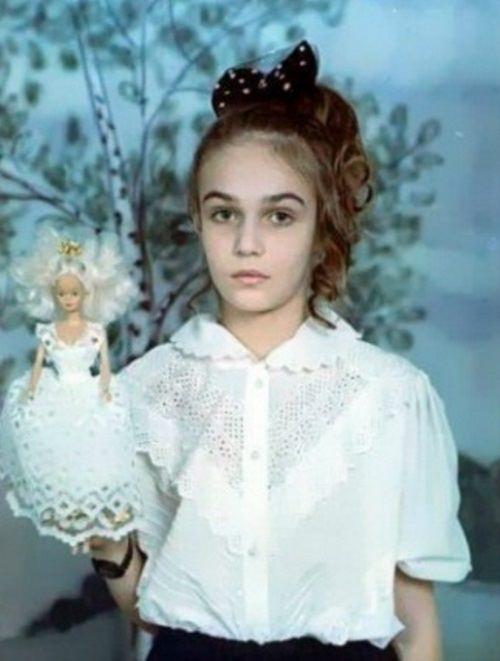 Vodonaeva in her childhood