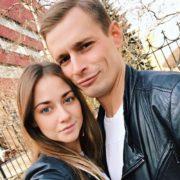 Actress Ingrid Olerinskaya and her boyfriend