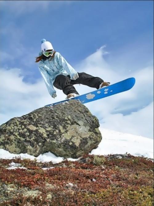 Alekhina Alena Russian snowboarder