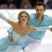 Attractive figure skater Lobacheva Irina and Ilya Averbukh