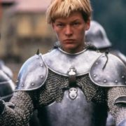 Jovovich in the role of Joan of Arc