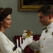 Konstantin Khabensky and Lisa Boyarskaya in the film Admiral