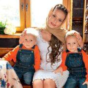 Ksenia Novikova and her sons