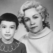 Little Anna Samokhina and her mother
