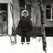 Little Ksenia Novikova in her childhood