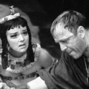 Magnificent actress Yulia Borisova in the play Antony and Cleopatra