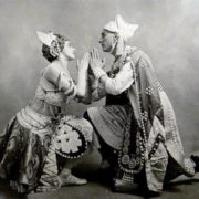 Max Frohman and Tamara Karsavina in The Blue God. Photo in Comoedia Illustre