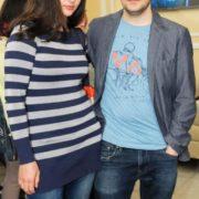 Pretty Irina Leonova with her second husband Evgeny Tsyganov