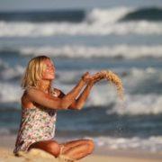 Polina Iodis, singer and surfer