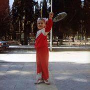 Little Elena Vesnina in her childhood
