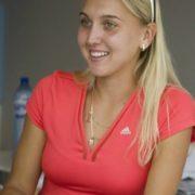 Pretty tennis player Vesnina Elena