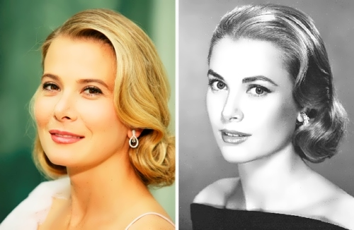 Julia Vysotskaya and Grace Kelly