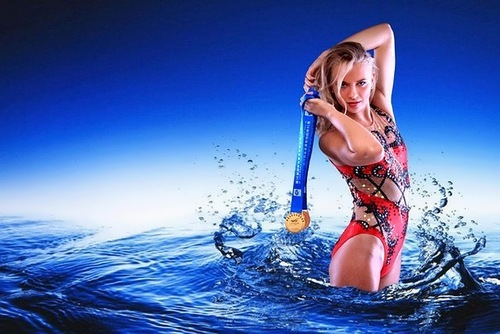Anzhelika Timanina, synchronized swimmer