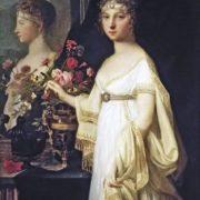Mosnier Jean-Laurent. Portrait of Empress Elizaveta Alexeevna, 1802