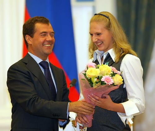 Svetlana and Dmitry Medvedev