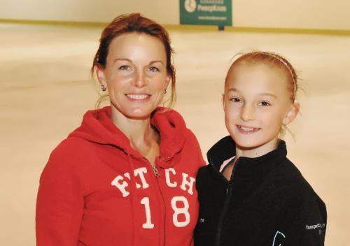 Gordeeva and her daughter