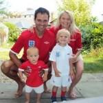 Happy Family. Elena Berezhnaya, her husband and their children