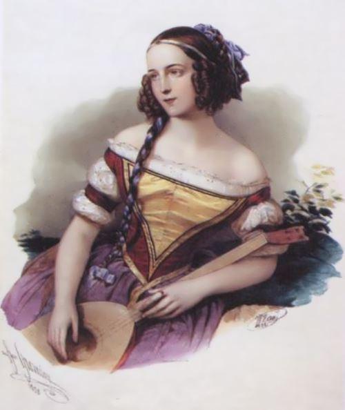 Portrait of Asenkova by Hau Edward Petrovich