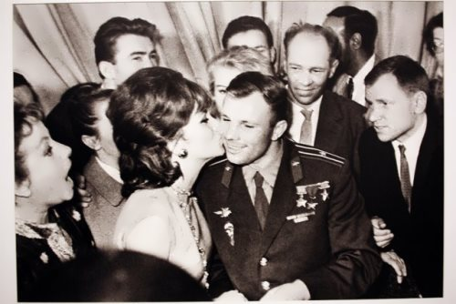 Gagarin and Gina Lollobrigida