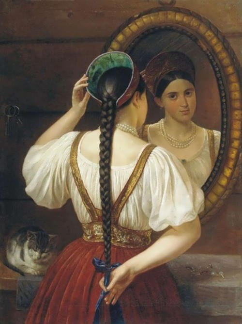 Budkin Philip. Girl before the mirror