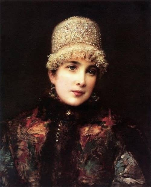 Konstantin Makovsky Russian Beauty