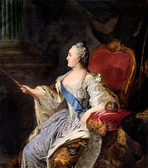 Fyodor Rokotov. Portrait of Catherine the Great