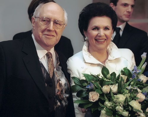 Galina Vishnevskaya and Mstislav Rostropovich