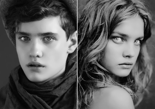 Vladimir Averianov, male model - Natalia Vodianova twin